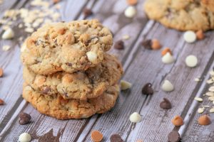 Triple Chip Oatmeal Cookies